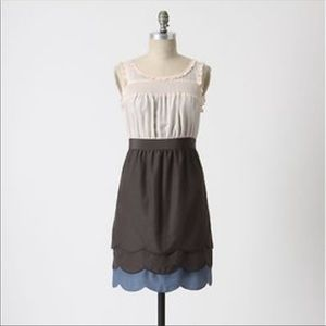 Anthropologie Maeve horizon line scallop dress 4